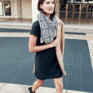 Madewell Et Sezane textured lace shift dress